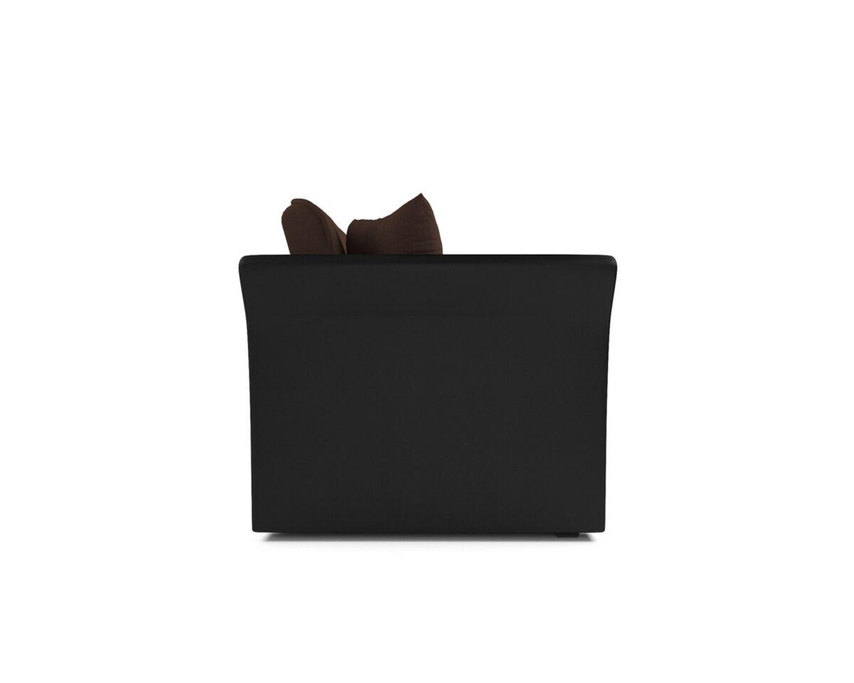 Малютка №2 (рогожка шоколад-экокожа) 4